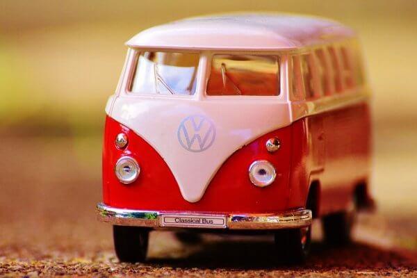 miniatuur volkwagenbusje t1