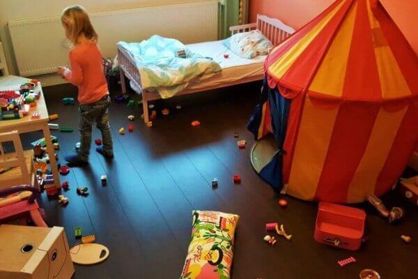Onoverzichtelijke chaos in kinderkamer
