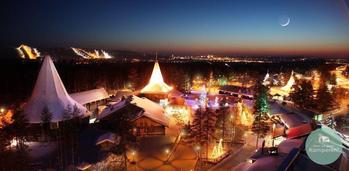 dorp Rovaniemi nacht