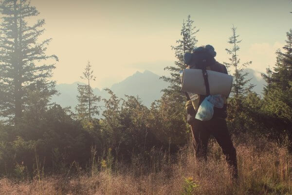 Backpack hiken winterkamperen