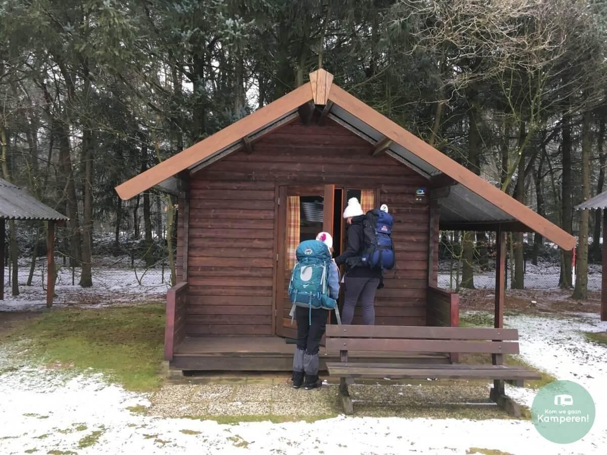 Trekkershut backpack sneeuw