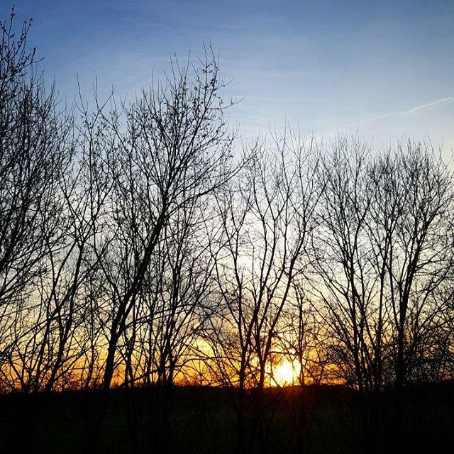 Vandaag ruuuuuim op tijd wakker geworden voor onze caravancursus! sunrisehellip