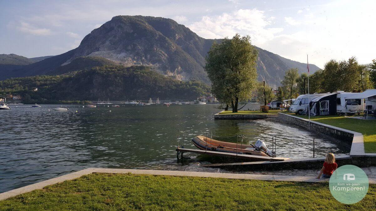 Camping aan het water Lago Maggiore Bergen