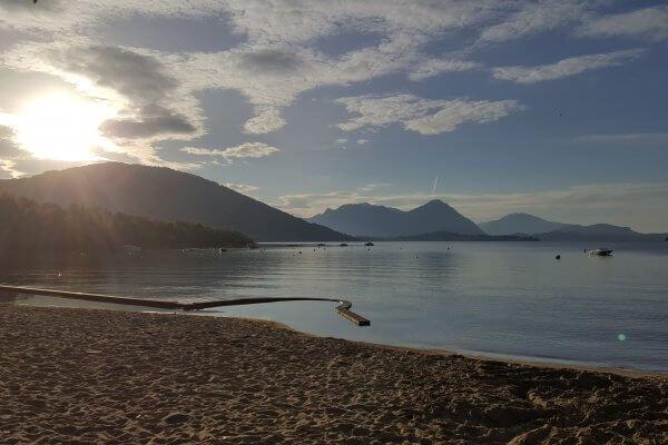Lago Maggiore Sunrise Lake Feriolo Baveno Komwegaankamperen Conca d' Oro