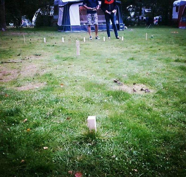 Kubb!!! Camping game friends outdoors komwegaankamperen kubb boys vs girlshellip