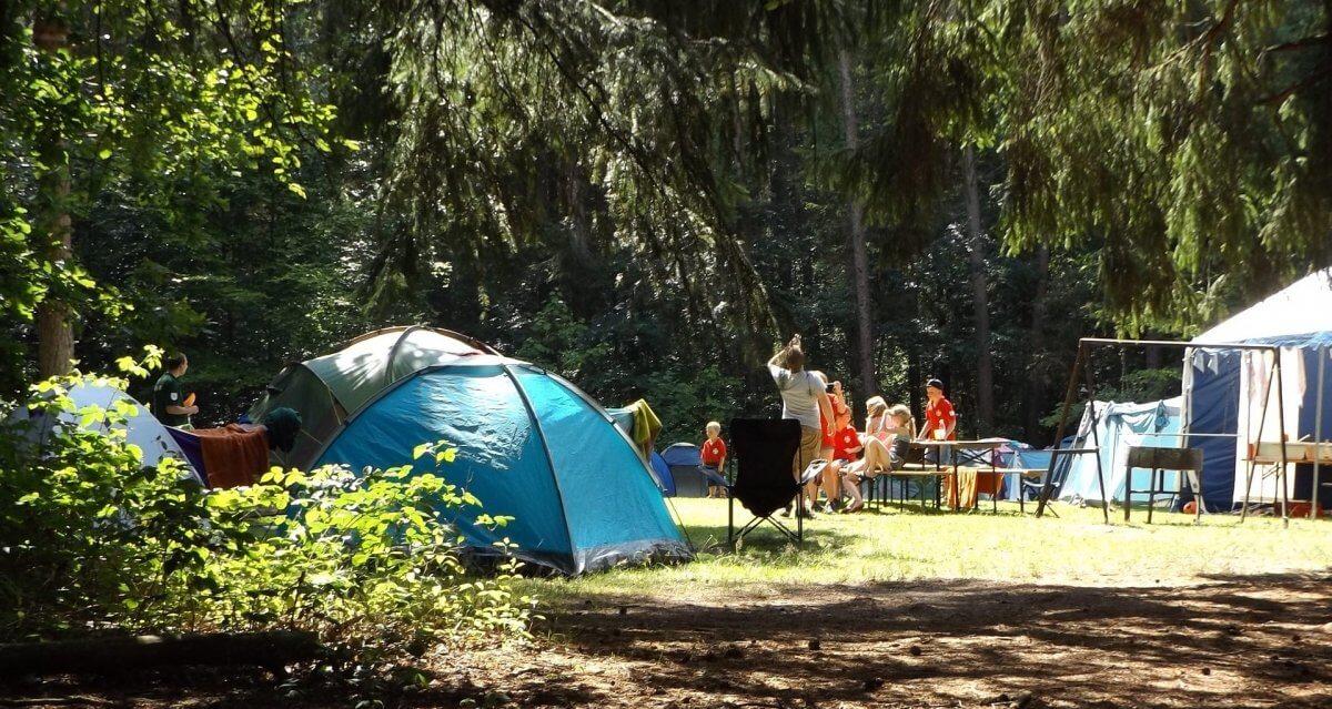 Camping tenten kampeergevoel