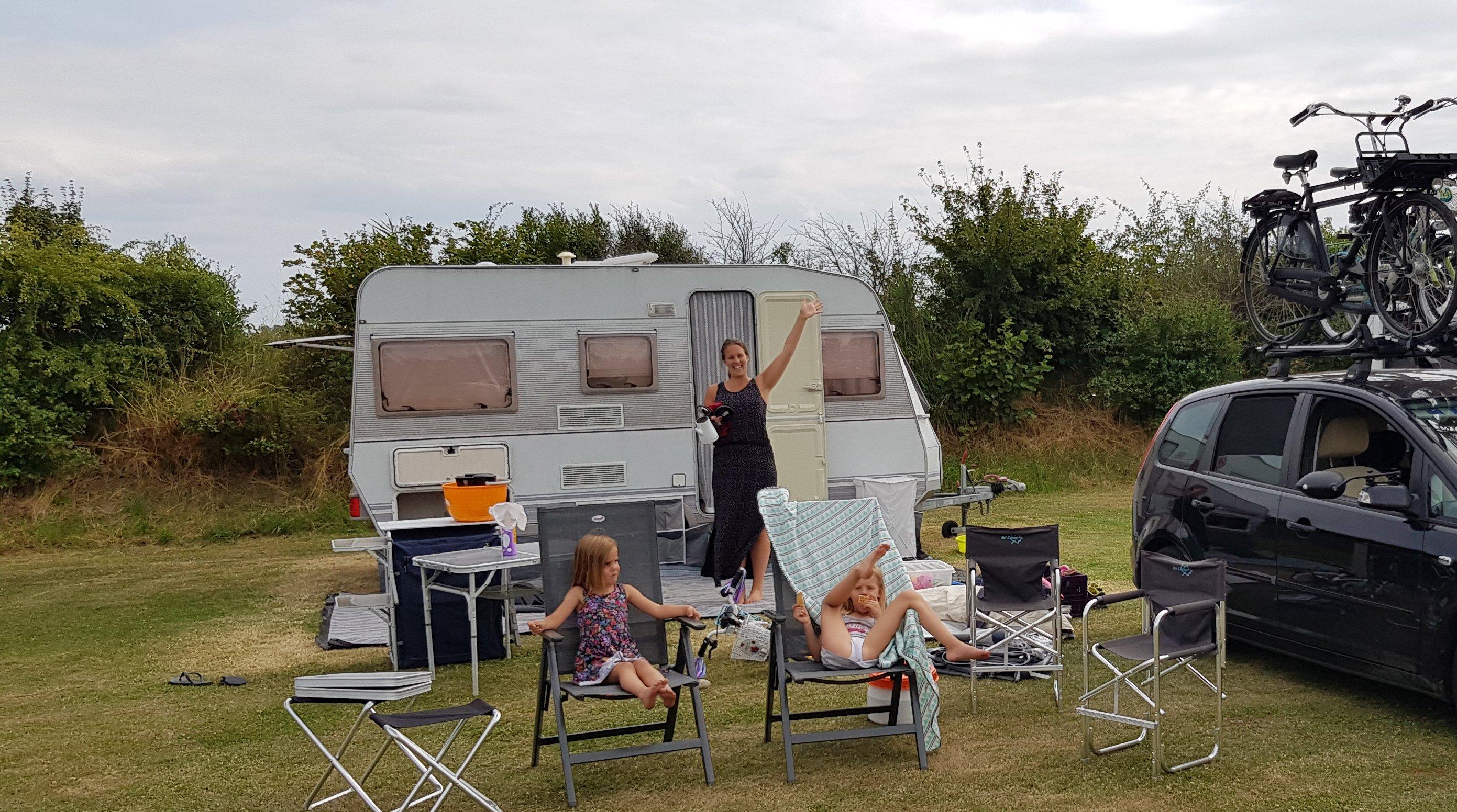 Caravan fietsendrager campingstoel